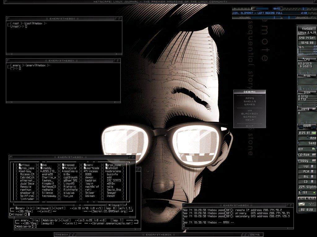 Abstract Wallpaper: Linux Geek