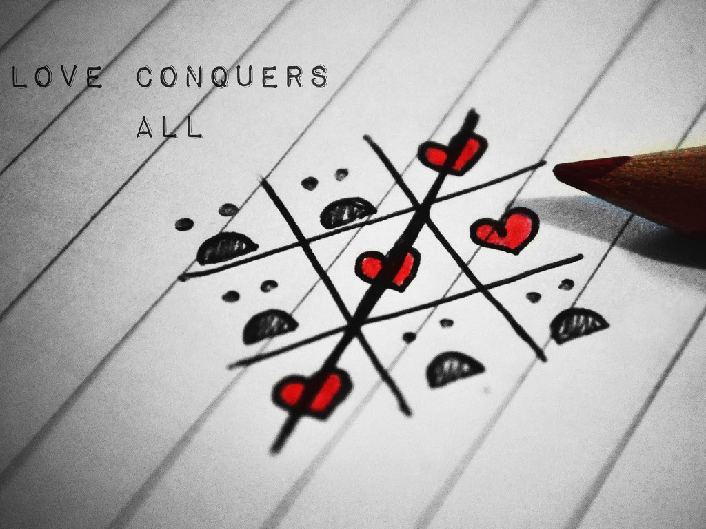 Abstract Wallpaper: Love Conquers All