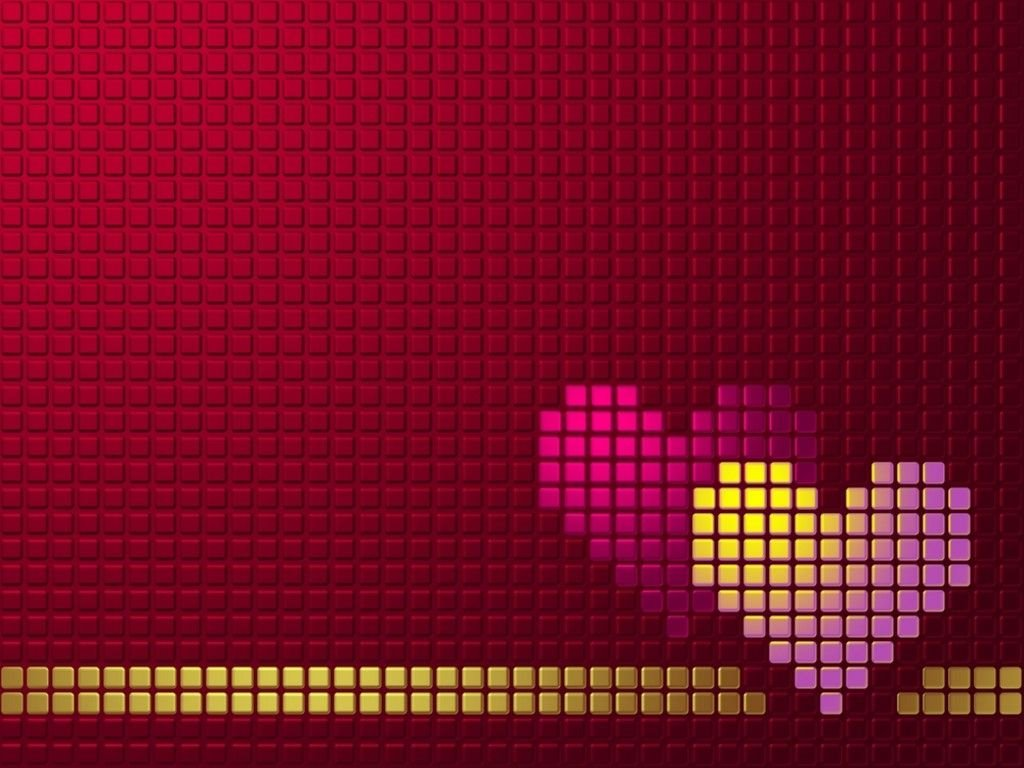 Abstract Wallpaper: Love Hearts