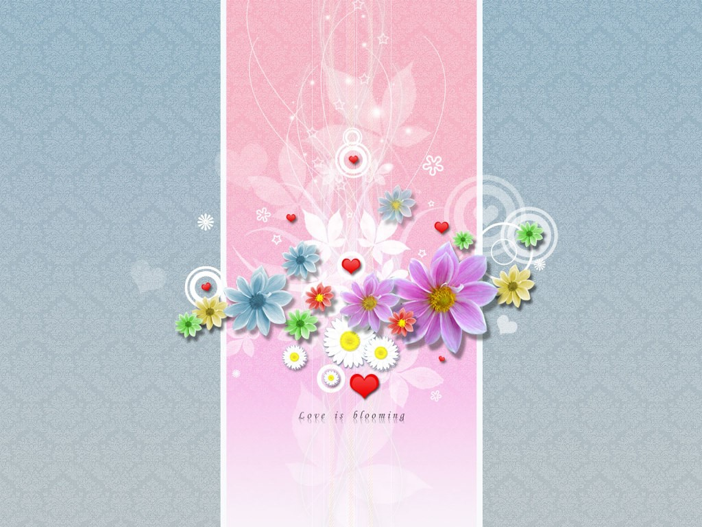 Abstract Wallpaper: Love is Blooming