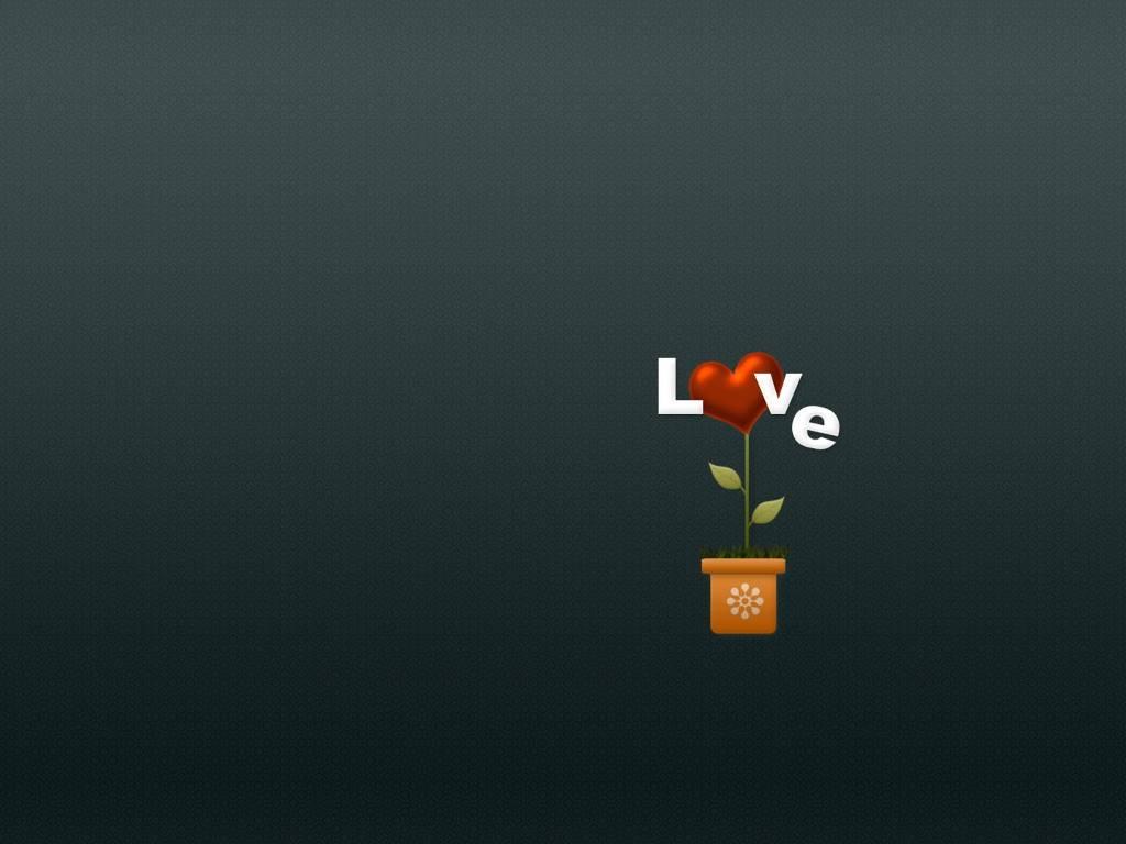 Abstract Wallpaper: Love Vase