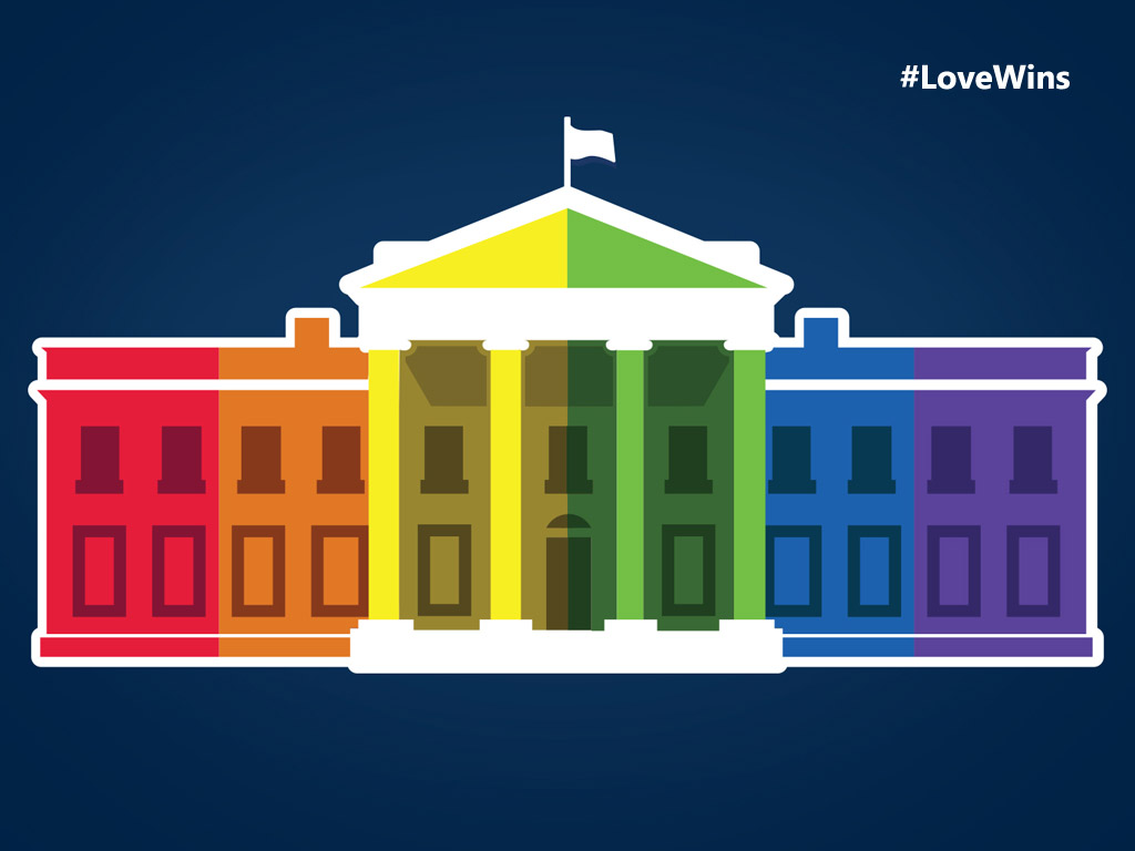 Abstract Wallpaper: Love Wins