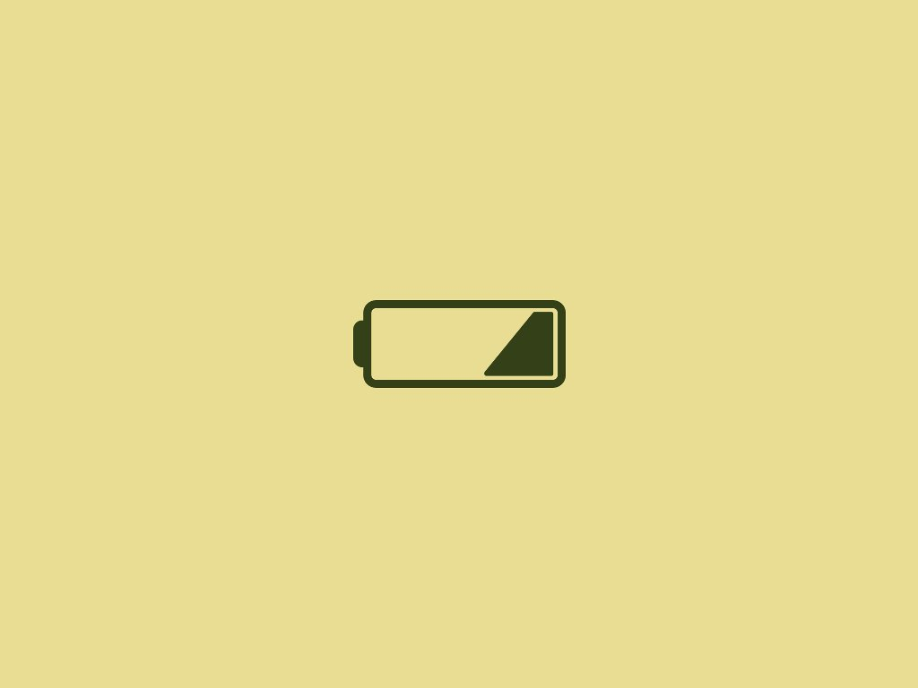 Abstract Wallpaper: Low Battery