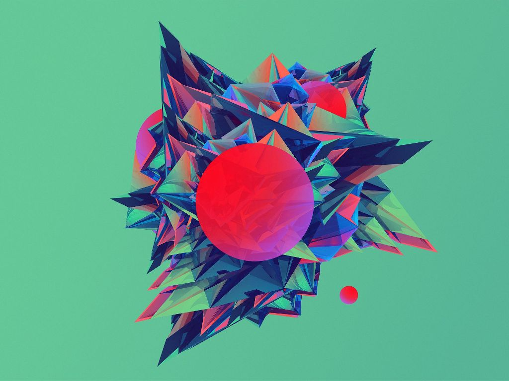 Abstract Wallpaper: Low Poly Worlds
