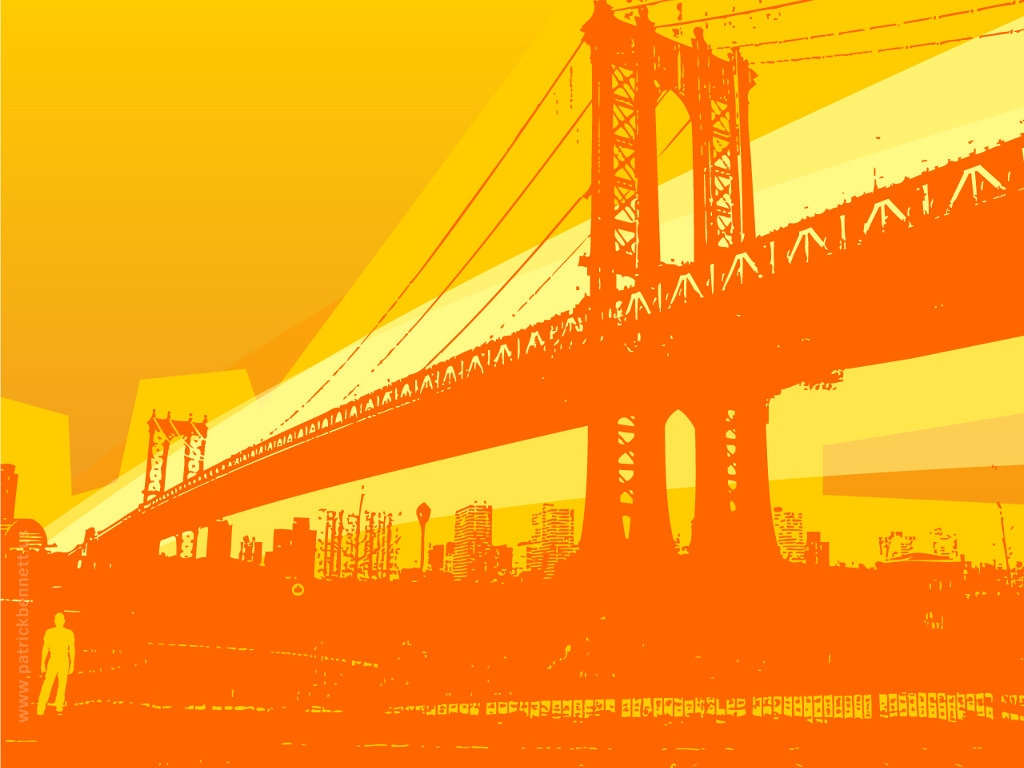 Abstract Wallpaper: Manhattan Bridge