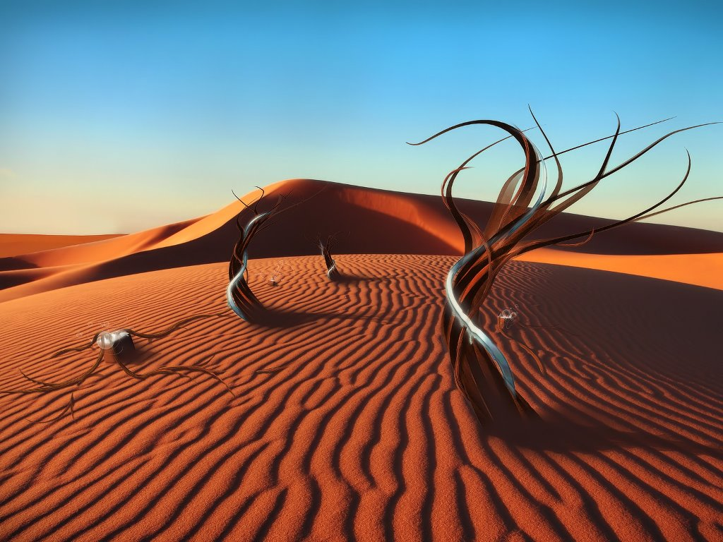 Abstract Wallpaper: Metal Desert