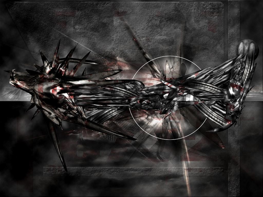 Abstract Wallpaper: Metallic Lifeforce
