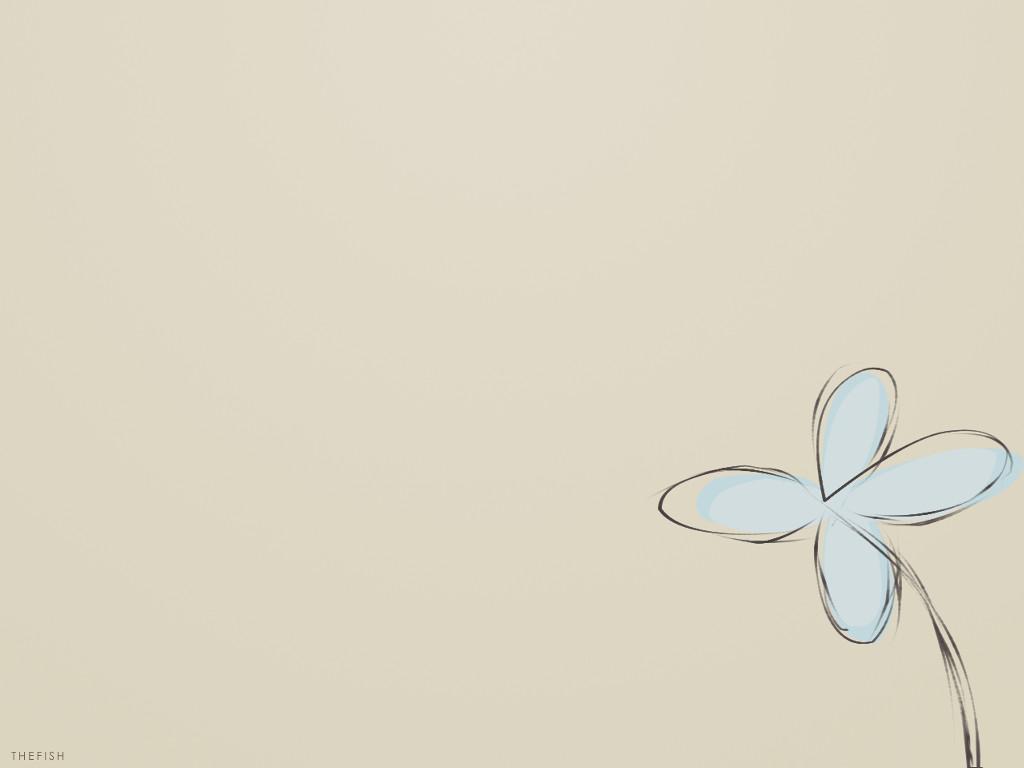 Abstract Wallpaper: Minimal Flower