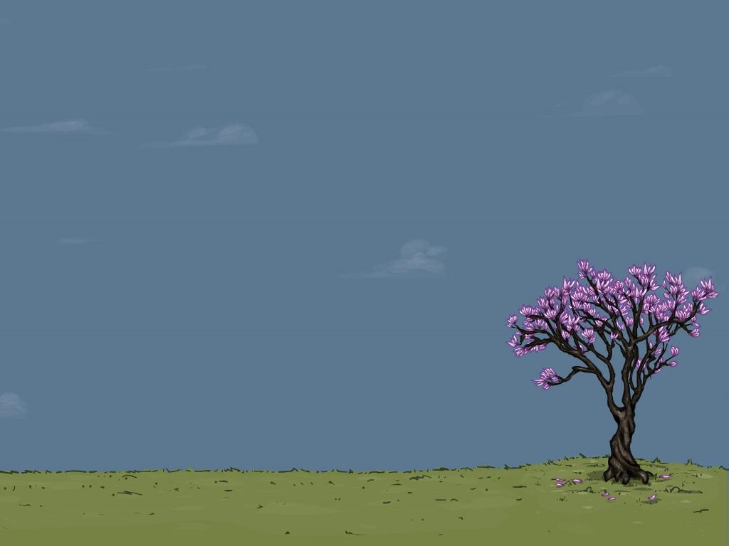Abstract Wallpaper: Minimal Spring