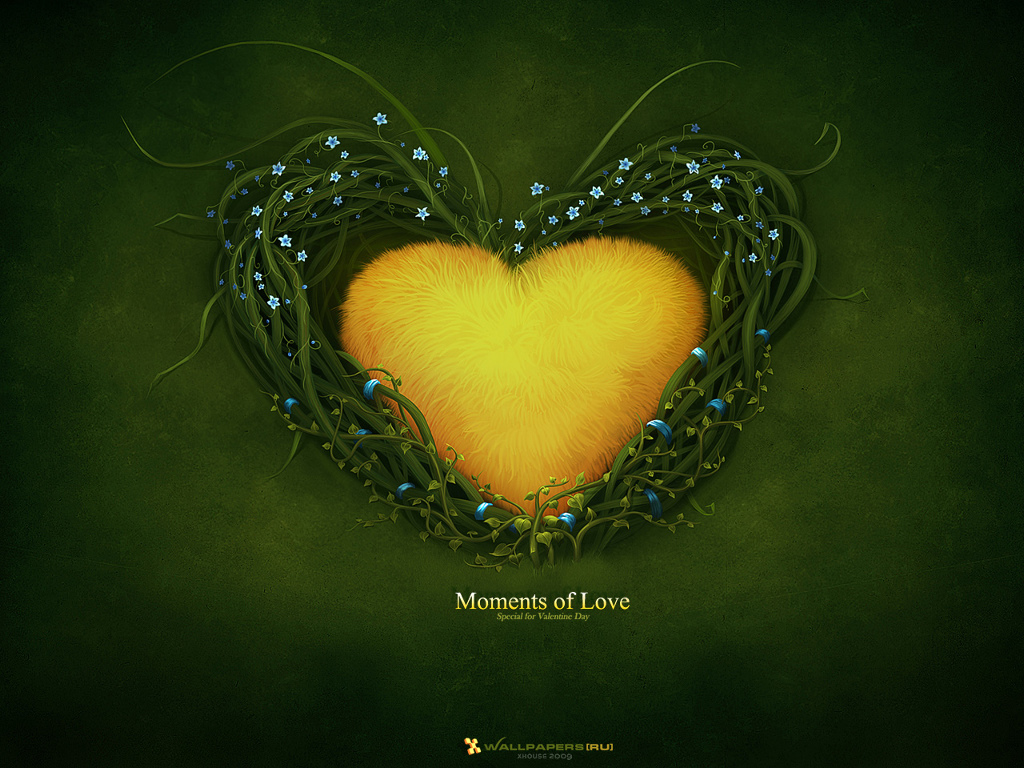 Abstract Wallpaper: Moments of Love