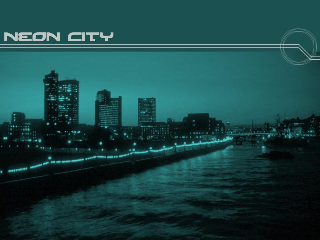 Abstract Wallpaper: Neon City