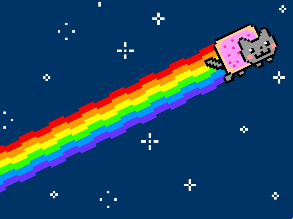 Abstract Wallpaper: Nyan Cat