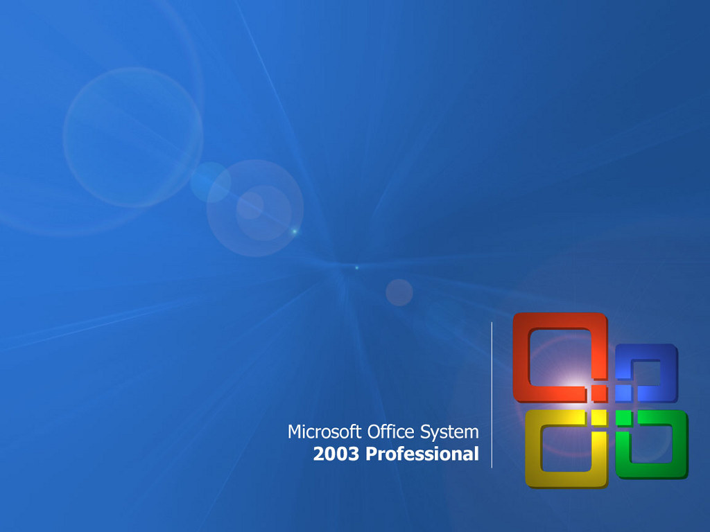Abstract Wallpaper: Microsoft Office 2003