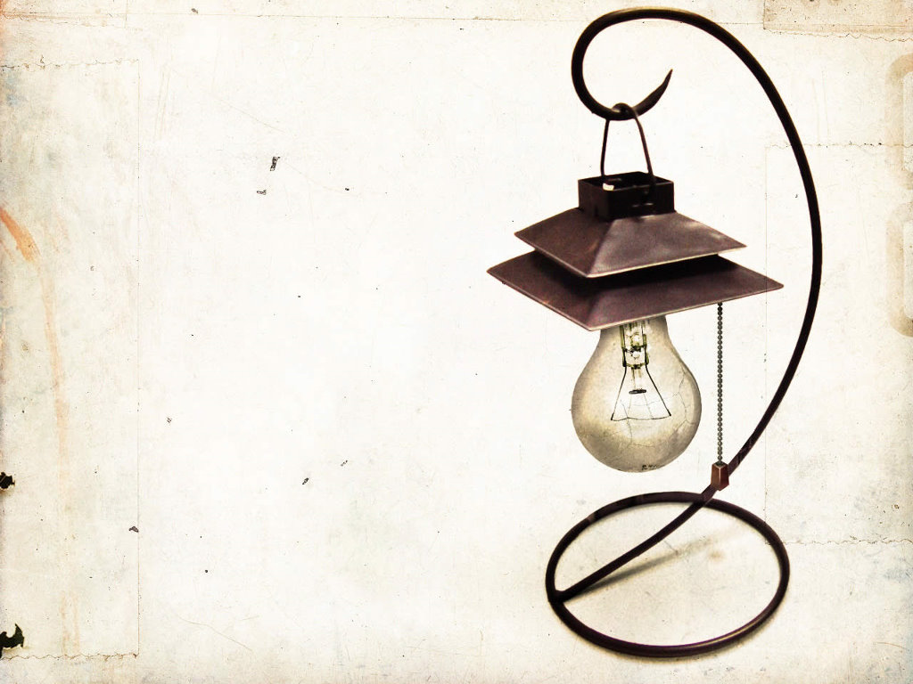 Abstract Wallpaper: Old Lamp