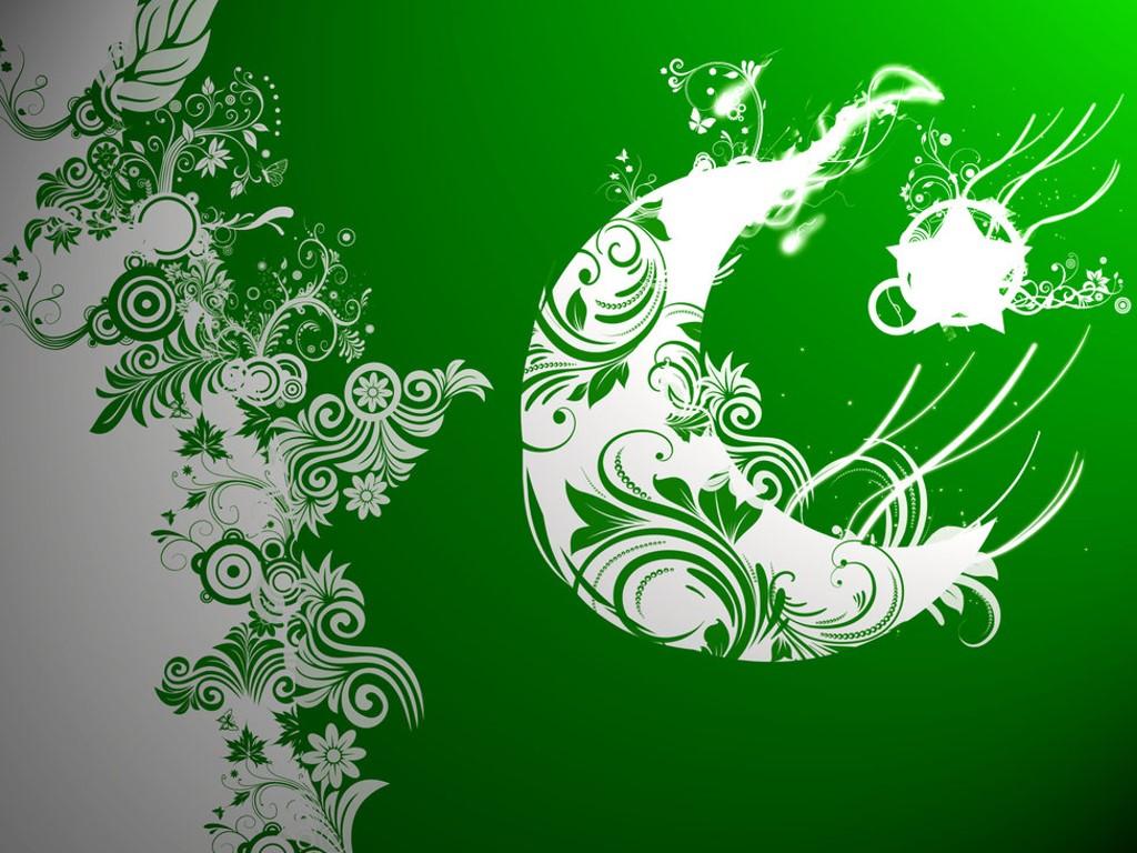 Abstract Wallpaper: Pakistan Flag