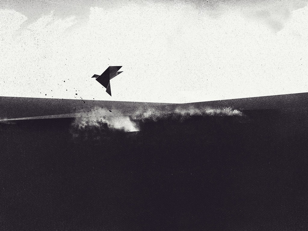 Abstract Wallpaper: Paper Bird