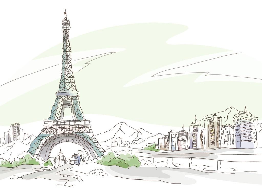 Abstract Wallpaper: Paris Landscape