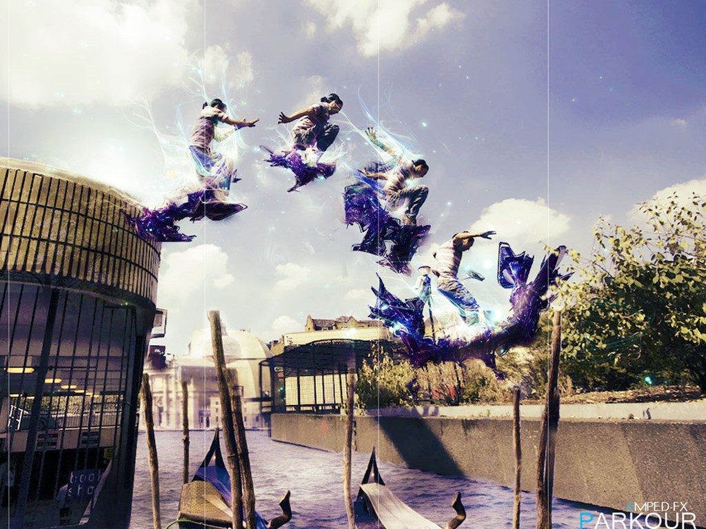 Abstract Wallpaper: Parkour