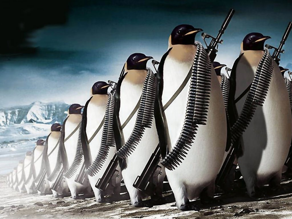 Abstract Wallpaper: Penguin Army