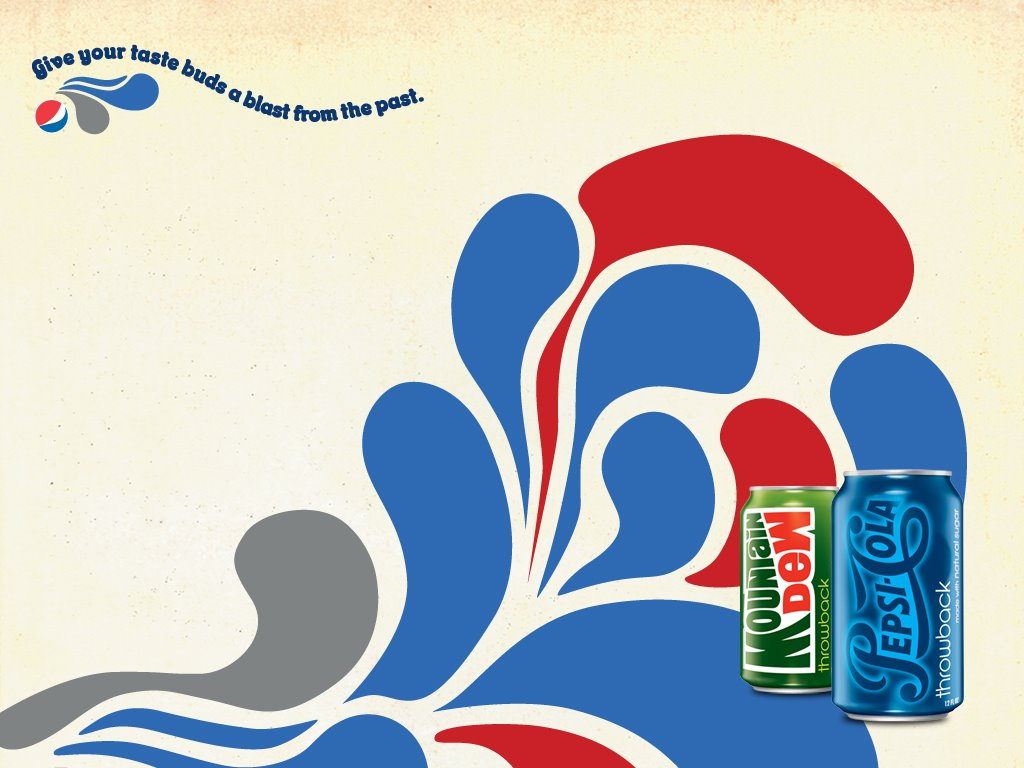 Abstract Wallpaper: Pepsi and Mountain Dew