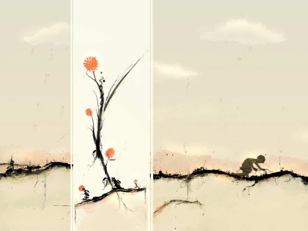 Abstract Wallpaper: Picking Flowers