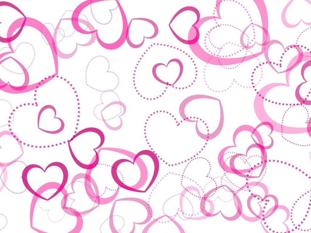 Abstract Wallpaper: Pink Hearts