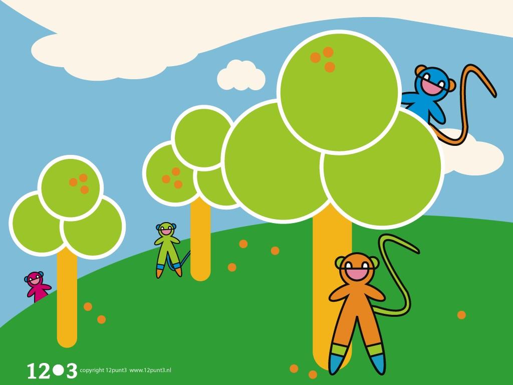 Abstract Wallpaper: Pixel Monkeys