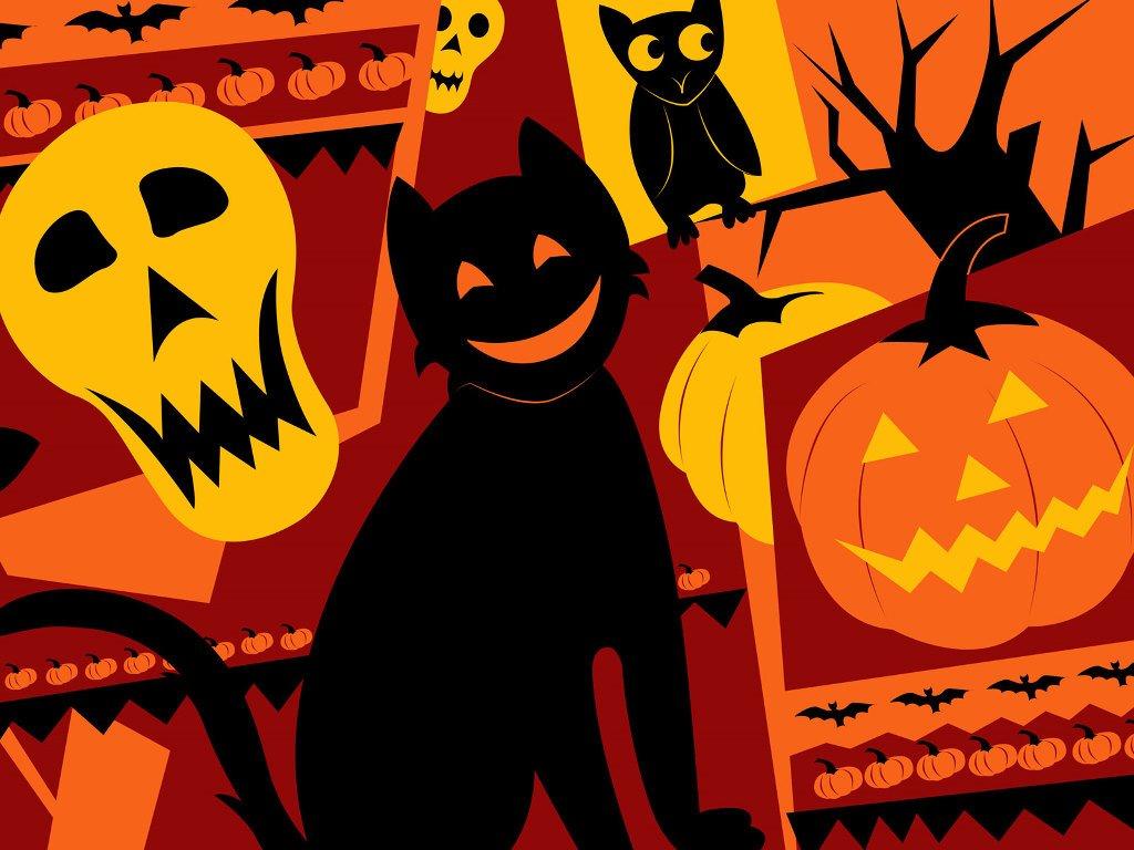 Abstract Wallpaper: Pop Art - Halloween