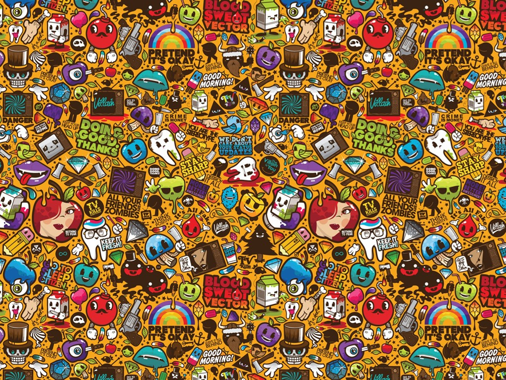 Abstract Wallpaper: Pop Stickers
