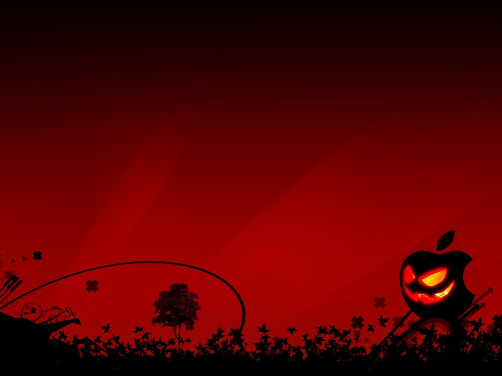 Abstract Wallpaper: Red Mac Halloween