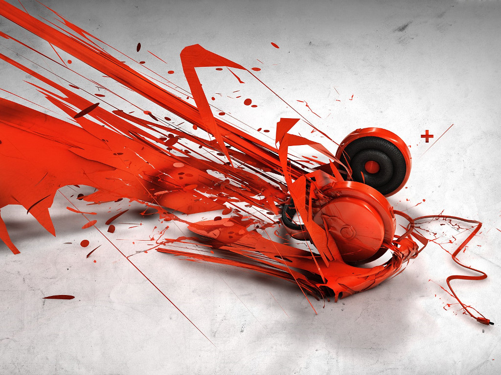 Abstract Wallpaper: Red Phone