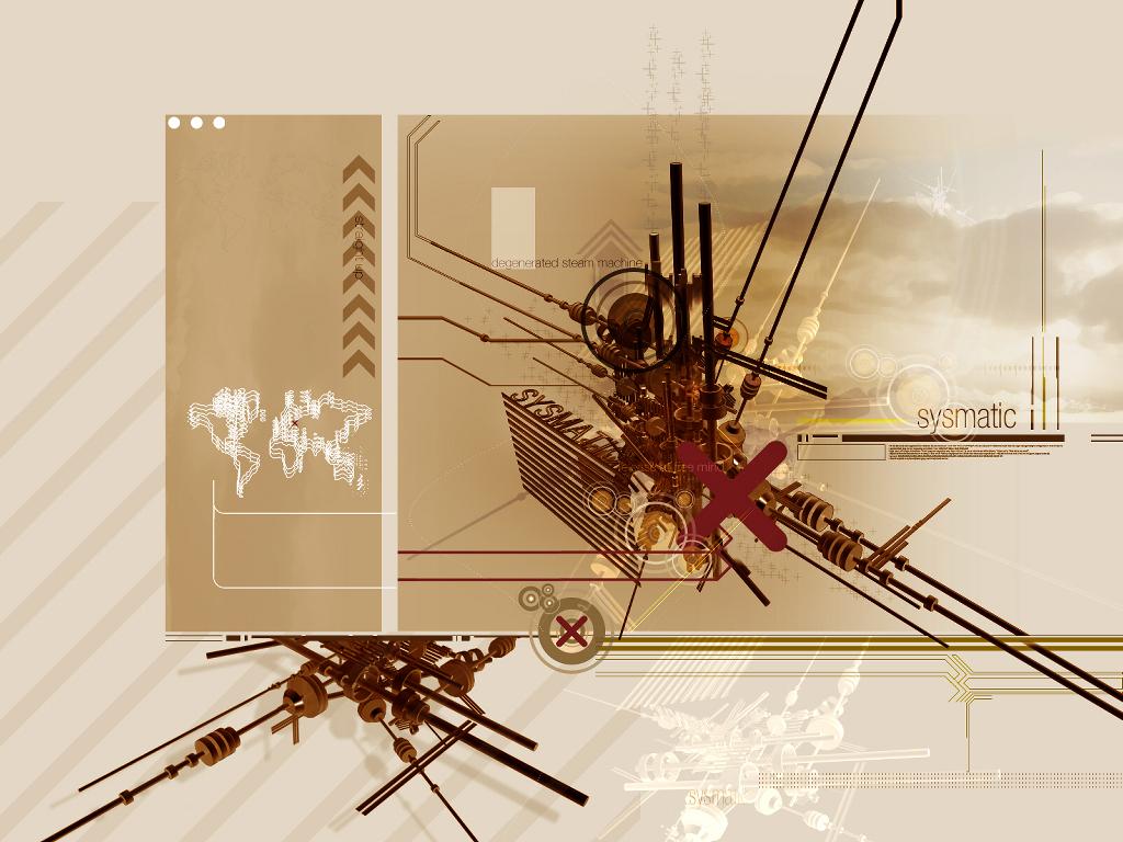 Abstract Wallpaper: Regenerated Steam Machine