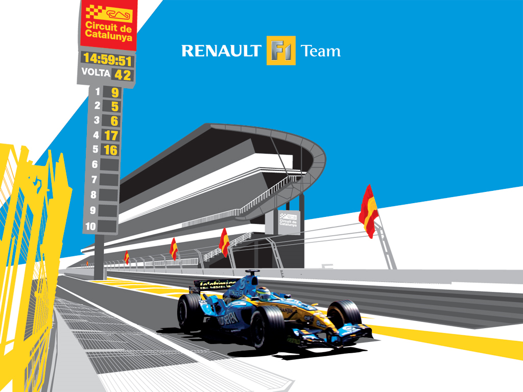 Abstract Wallpaper: Renault F1