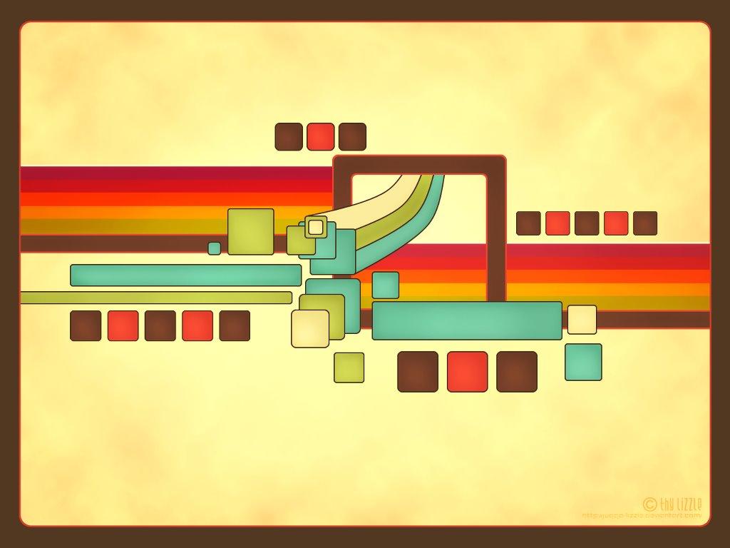 Abstract Wallpaper: Retro Profile