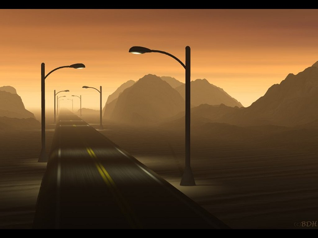 Abstract Wallpaper: Road to Nowhere