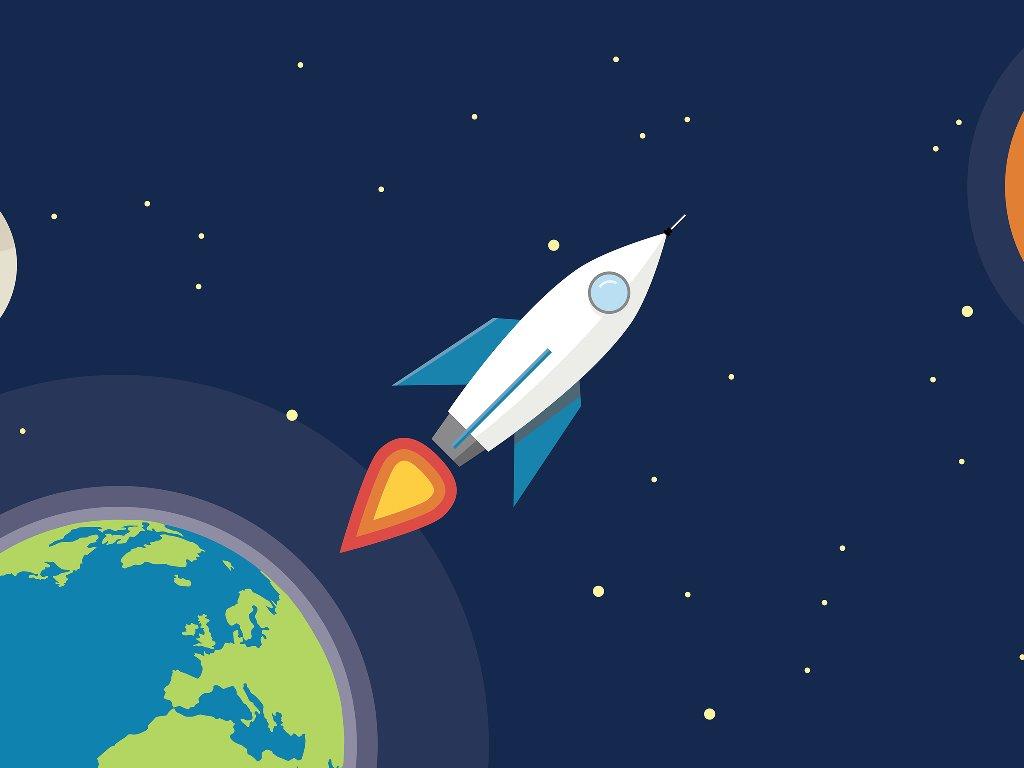 Papel de Parede Gratuito de Abstrato : Rocket Launch