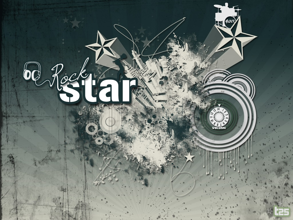 Abstract Wallpaper: Rockstar