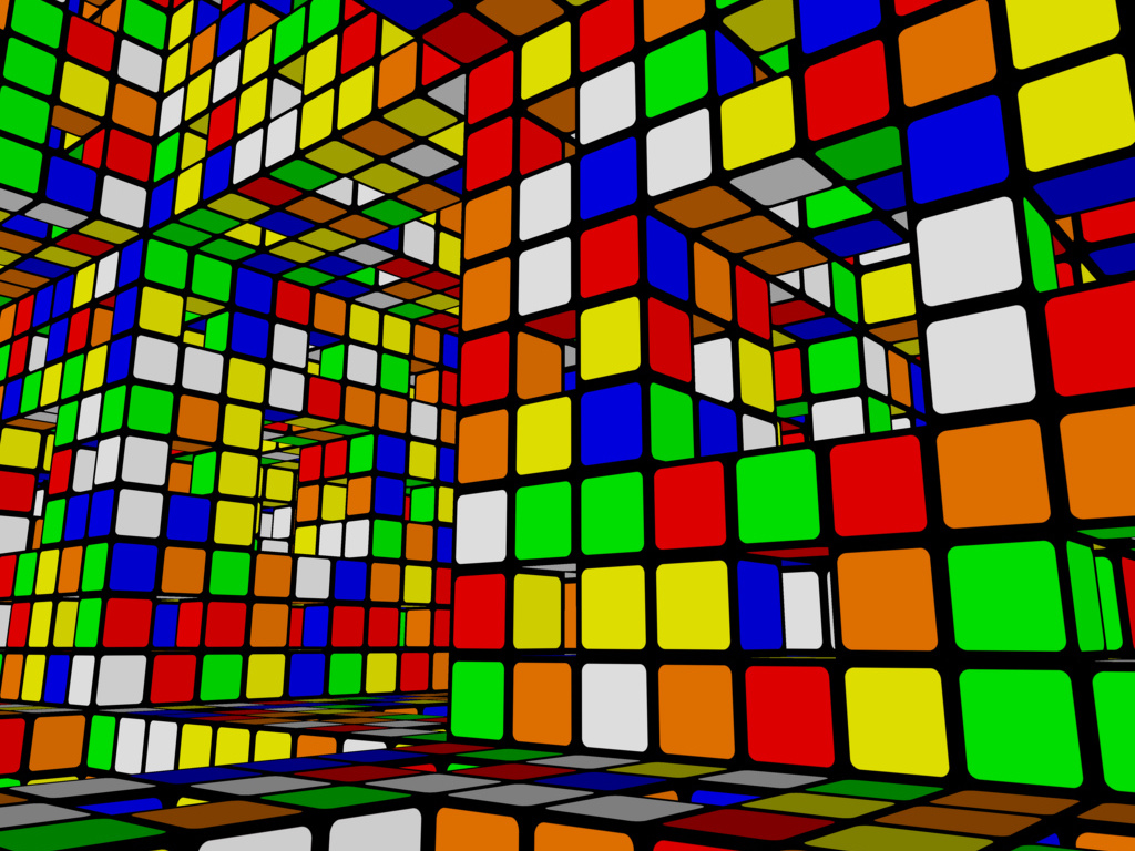 Abstract Wallpaper: Rubik Menger
