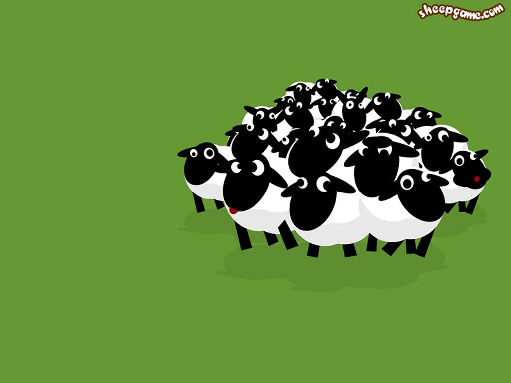 Abstract Wallpaper: Sheeps