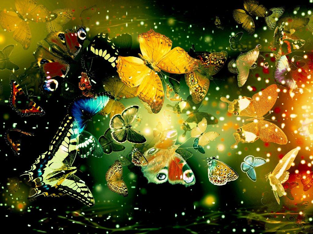 Abstract Wallpaper: Shining Butterflies