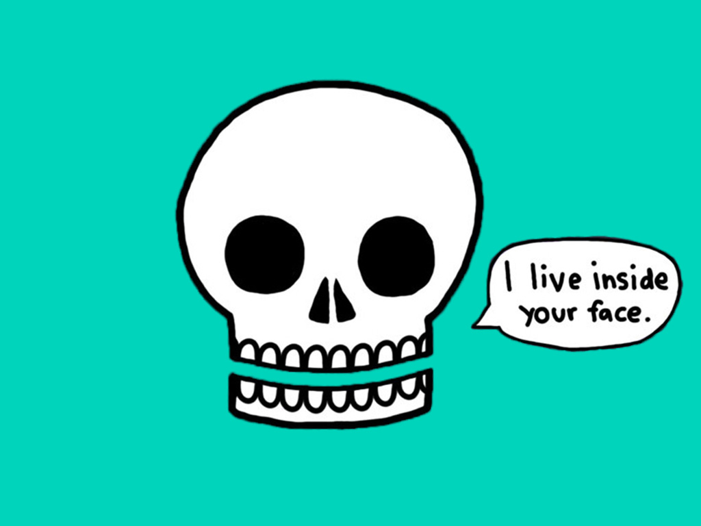 Abstract Wallpaper: Skull - Inside Your Face