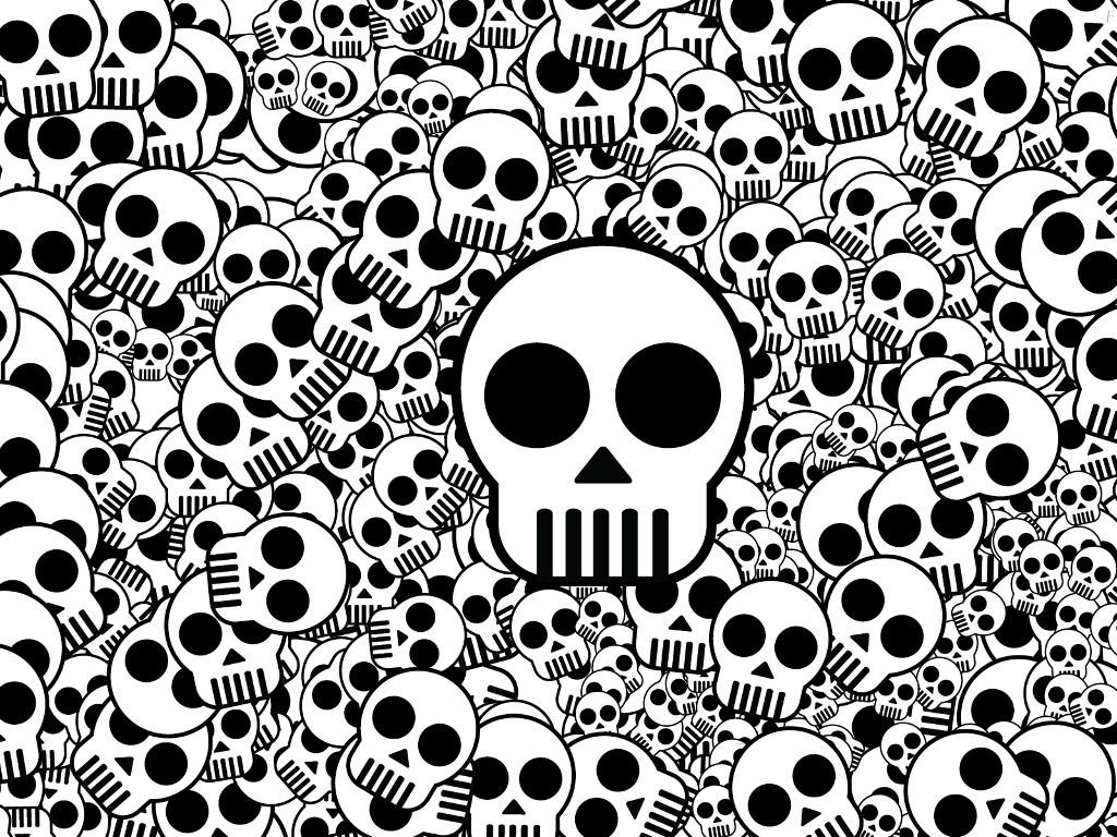 Abstract Wallpaper: Skulls