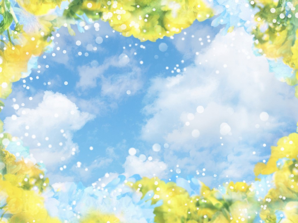 Abstract Wallpaper: Sky Flowers