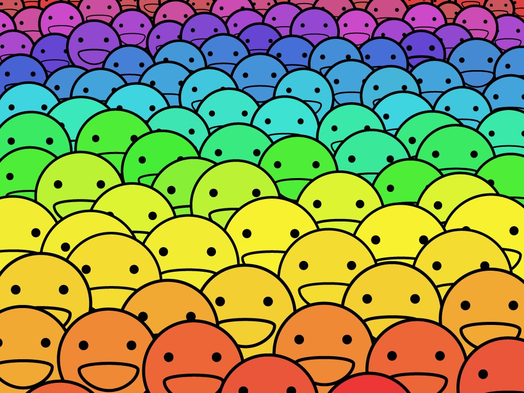 Abstract Wallpaper: Smiles