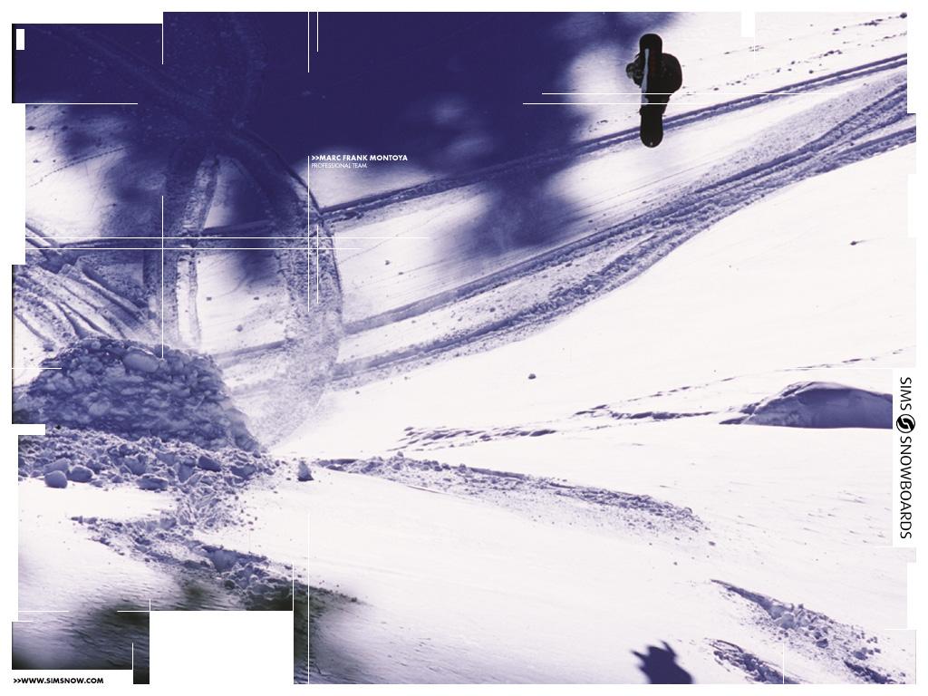 Abstract Wallpaper: Snowboard