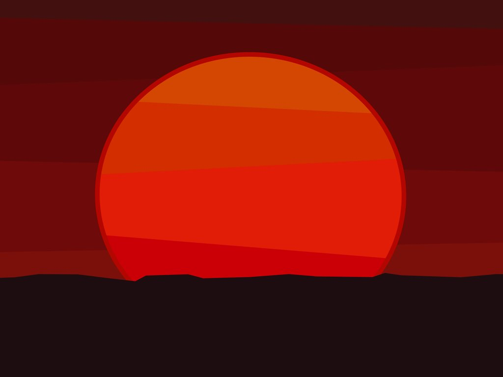Abstract Wallpaper: Sunset