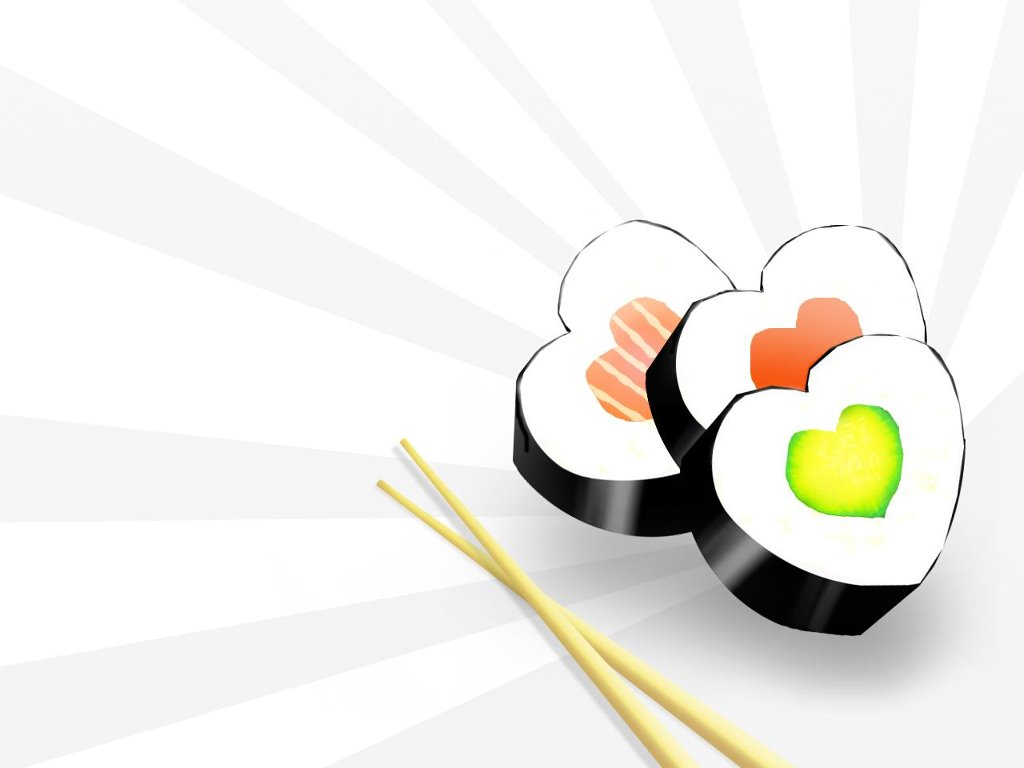 Abstract Wallpaper: Sushi - Valentine