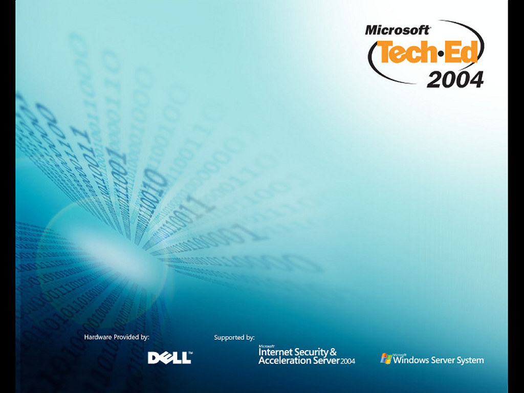 Abstract Wallpaper: Microsoft TechEd 2004