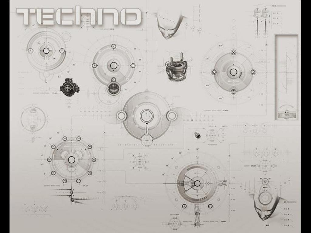 Abstract Wallpaper: Techno