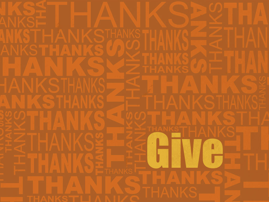 Abstract Wallpaper: Give Thanks